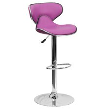 Contemporary Adjustable Height Bar Stool