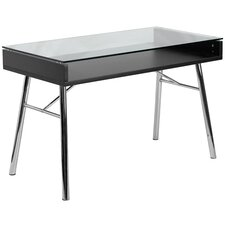 Brettford Desk with Tempered Glass Top