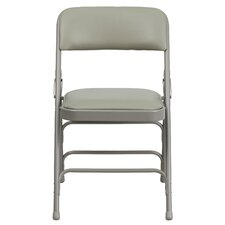 Hercules Series Personalized Vinyl Upholstered Metal Folding Chair