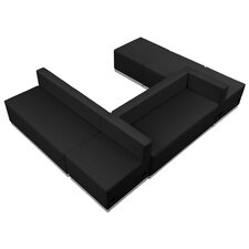 Hercules Alon 6 Piece Leather Reception Configuration Set