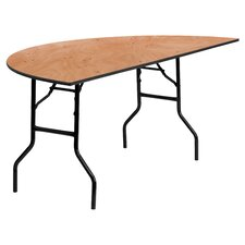 "72"" Semi Circle Folding Table"