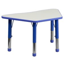 Height Adjustable Trapezoid Activity Table