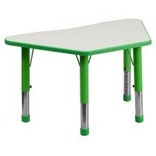 "37.75"" x 21"" Trapezoidal Classroom Table"