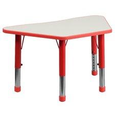 Height Adjustable Trapezoid Activity Table