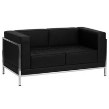 Hercules Imagination Series Leather Love Seat with Encasing Frame