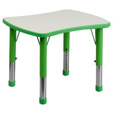 "Height Adjustable 21.88"" W x 26.63"" D Rectangular Activity Table"