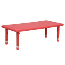 Height Adjustable Rectangular Plastic Activity Table