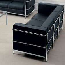 Hercules Regal Series Contemporary Leather Sofa with Encasing Frame