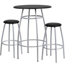 3 Piece Bar Height Pub Table Set