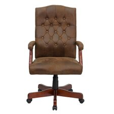 High-Back Classic Executive Office Chair with Arms