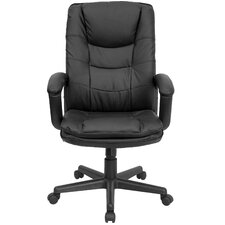 <strong>Flash Furniture</strong> High-Back Leather Executive Chair with Double Padded Cushions