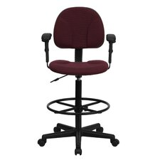 Height Adjustable Drafting Stool with Two Cylinder