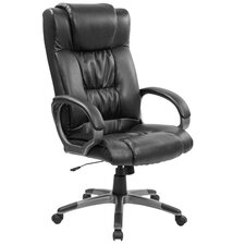 <strong>Flash Furniture</strong> Double Padded High-Back Office Chair with Titanium Base
