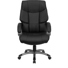 <strong>Flash Furniture</strong> High-Back Leather Executive Chair with Wing Back