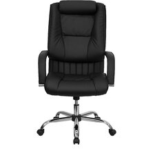 <strong>Flash Furniture</strong> High-Back Leather Executive Chair with Rolled Headrest
