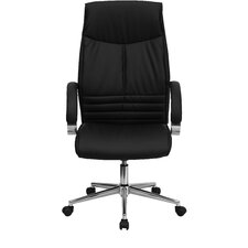 High-Back Leather Executive Chair with Slim Design