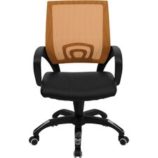 <strong>Flash Furniture</strong> Mid-Back Leather Task Chair