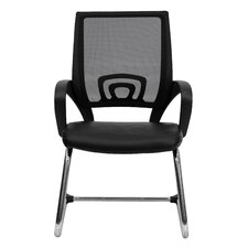 <strong>Flash Furniture</strong> Mesh Back Guest Side Chair with Sled Base