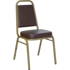"2.5"" Hercules Series Trapezoidal Back Stacking Banquet Chair with Gold Frame"
