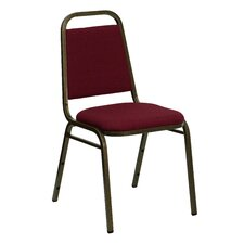 Hercules Series Trapezoidal Back Stacking Banquet Chair with Gold Vein Frame