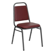 <strong>Flash Furniture</strong> Hercules Series Trapezoidal Back Stacking Banquet Chair with Silver Vein Frame