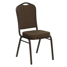 Hercules Series Crown Back Stacking Banquet Chair with Copper Silver Vein Frame