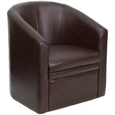 Club Lounge Chair with Barrel Shape