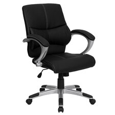 <strong>Flash Furniture</strong> Leather Office Executive Chair with Stitching
