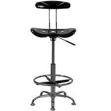 <strong>Flash Furniture</strong> Height Adjustable Drafting Stool with Chrome Base