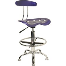 Height Adjustable Drafting Task Chair with Chrome Base