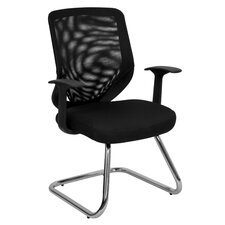 Mesh Office Guest Side Chair with Mesh Fabric Seat