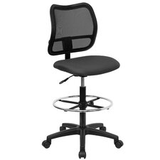 Height Adjustable Drafting Stool with Cutout