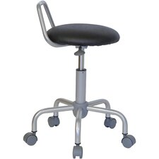 Height Adjustable Stool with Raised Bar Backrest