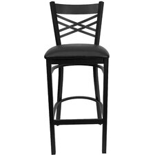 Hercules Series  ''X'' Back Metal Restaurant Barstool