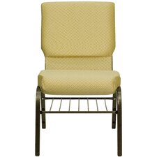 "<strong>Flash Furniture</strong> Hercules Series 18.5"" Wide Church Chair with 4.25"" Thick Seat Book Rack"