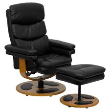 <strong>Flash Furniture</strong> Contemporary Leather Club Recliner and Ottoman