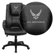 NCAA Embroidered High-Back Leather Executive Chair