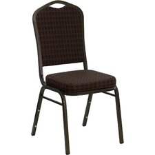 Hercules Series Crown Back Stacking Banquet Chair with 2.5'' Thick Seat