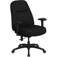 Hercules Series High-Back Big and Tall Fabric Office Chair with Height Adjustable Arms and Extra Wide Seat