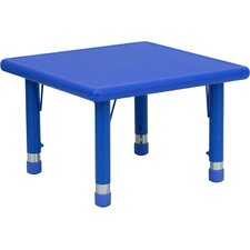 Square Height Adjustable Plastic Activity Table