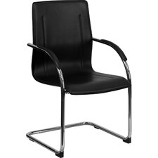<strong>Flash Furniture</strong> Guest Side Chair with Chrome Sled Base