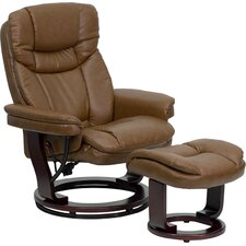 <strong>Flash Furniture</strong> Contemporary Leather Recliner and Ottoman