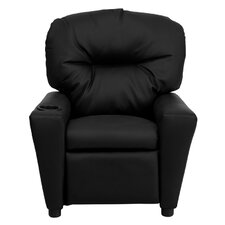 <strong>Flash Furniture</strong> Contemporary Kid's Vinyl Recliner with Cup Holder