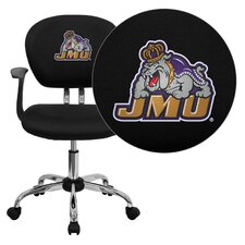 NCAA Embroidered Mid-Back Mesh Task Chair