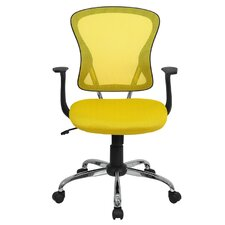 Mid-Back Mesh Office Chair with Chrome Base
