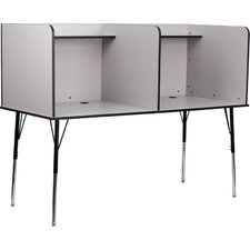 Double Wide Study Carrel Desk