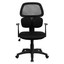 <strong>Flash Furniture</strong> Mid-Back Mesh Chair with Flexible Dual Lumbar Support
