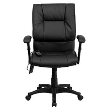 High-Back Leather Massaging Executive Office Chair
