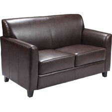 Hercules Diplomat Series Leather Love Seat
