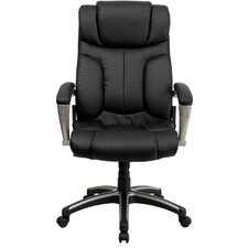 <strong>Flash Furniture</strong> High-Back Leather Folding Executive Office Chair with Arms
